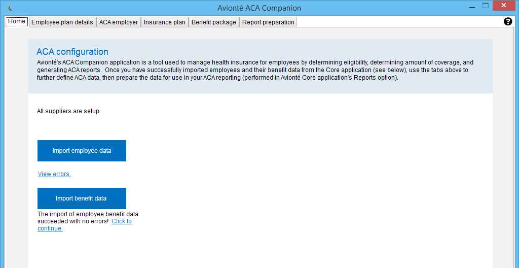 aca companion application getting started support center